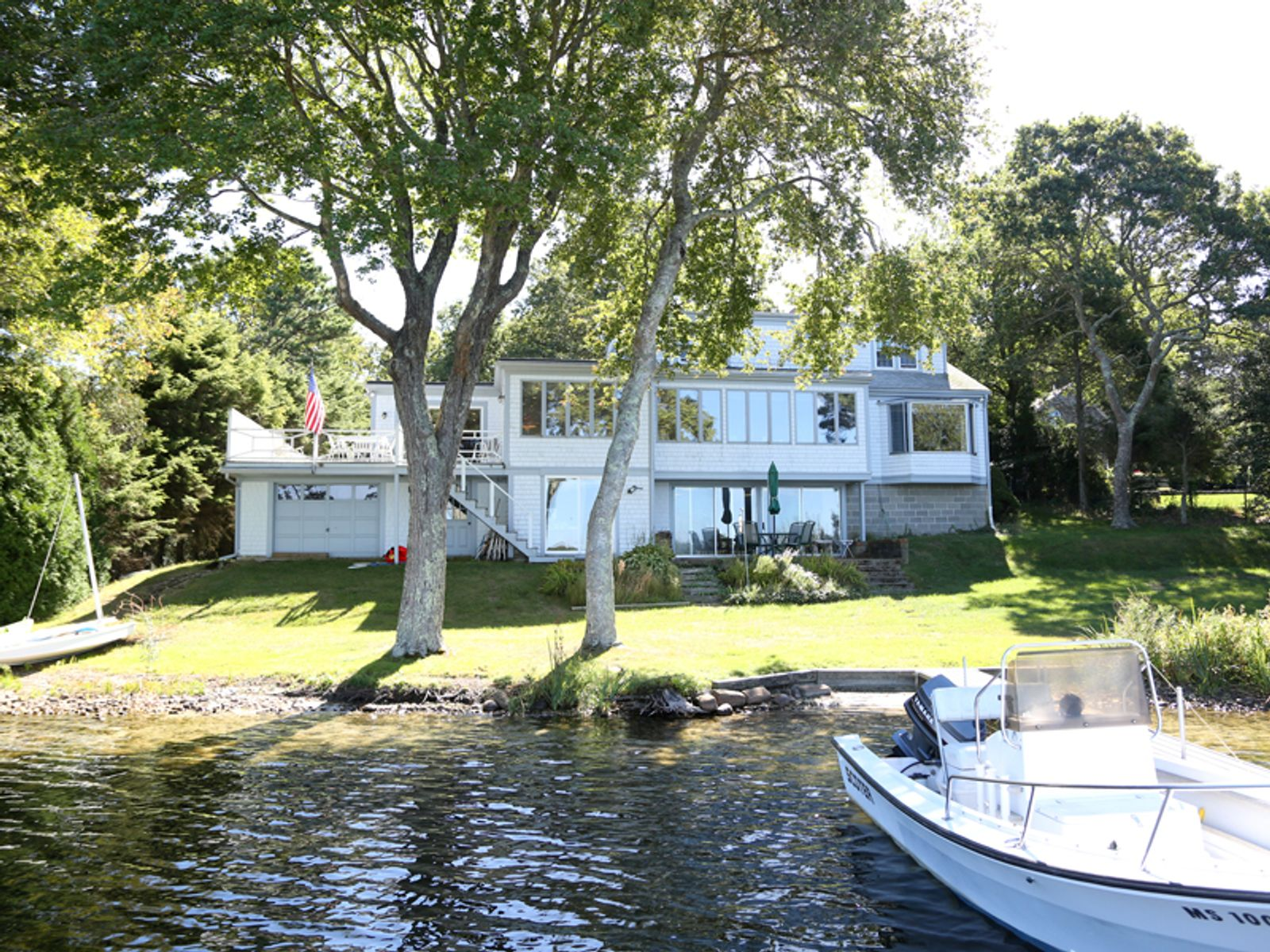 Wequaquet Lake Waterfront with Dock, Centerville MA Single Family Home - Cape Cod Real Estate