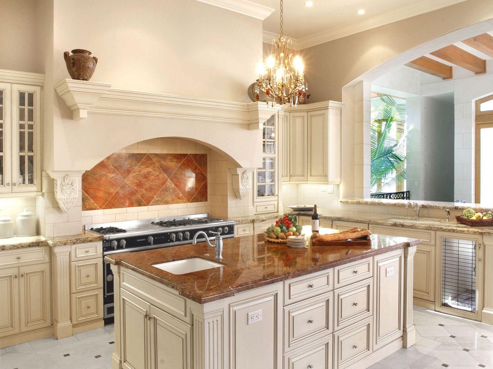 Stunning gourmet dream kitchen.