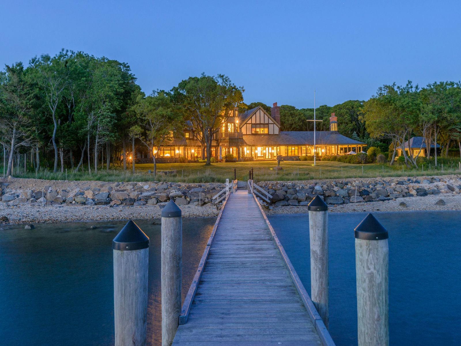 Estate On Open Water With Dock, Sag Harbor NY Single Family Home - Hamptons Real Estate