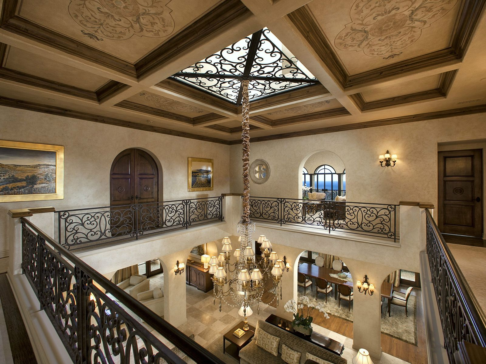 2nd story mezzanine and atrium