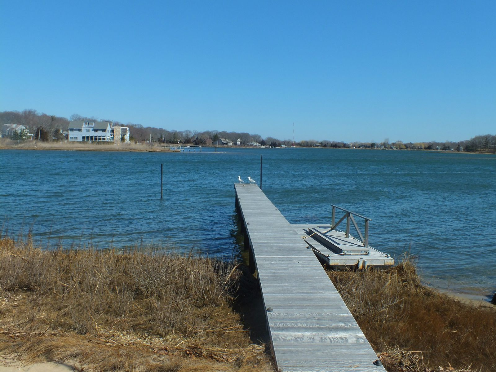 Sag Harbor Waterfront with Dock