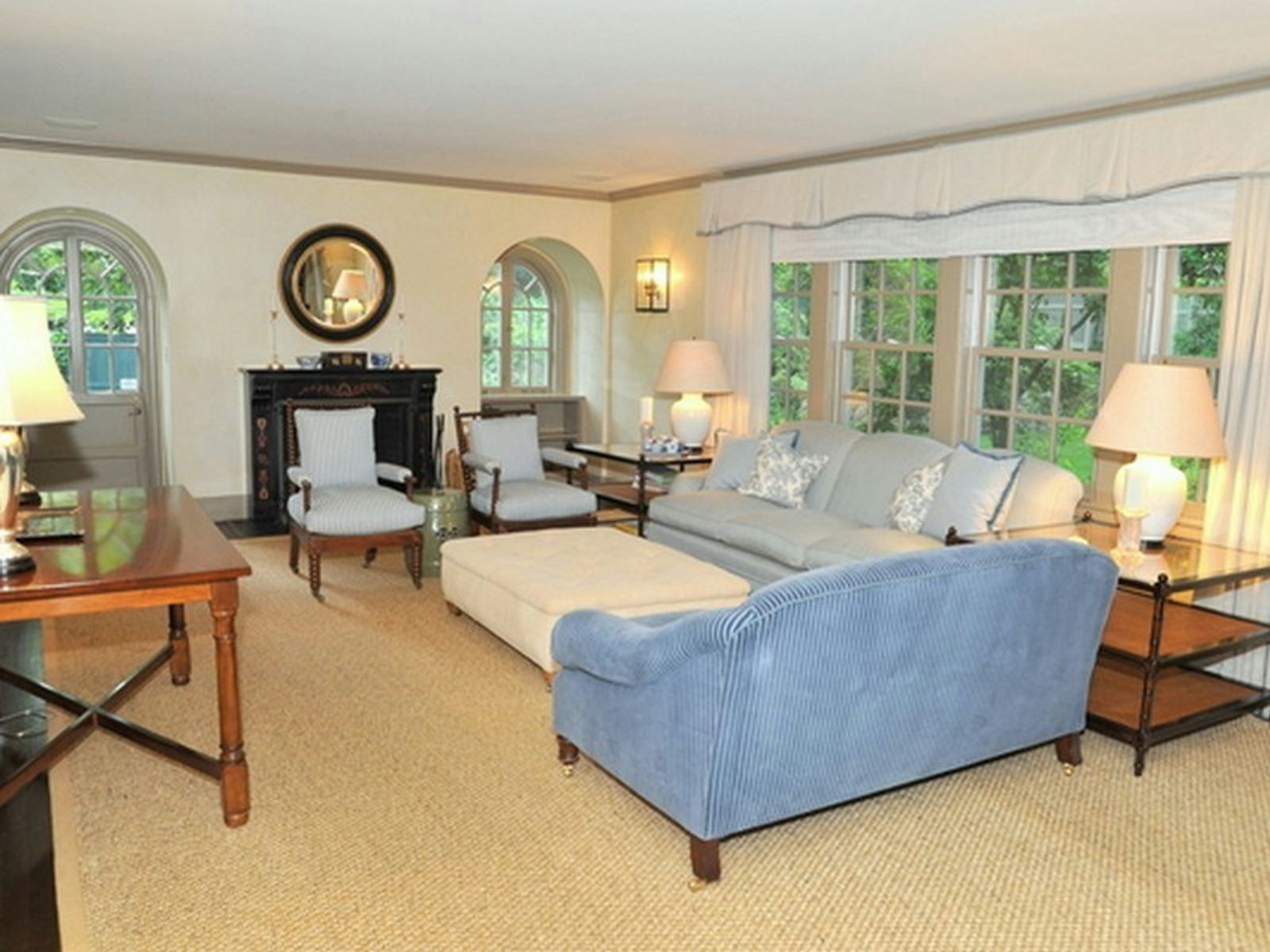 Living Room with French Door