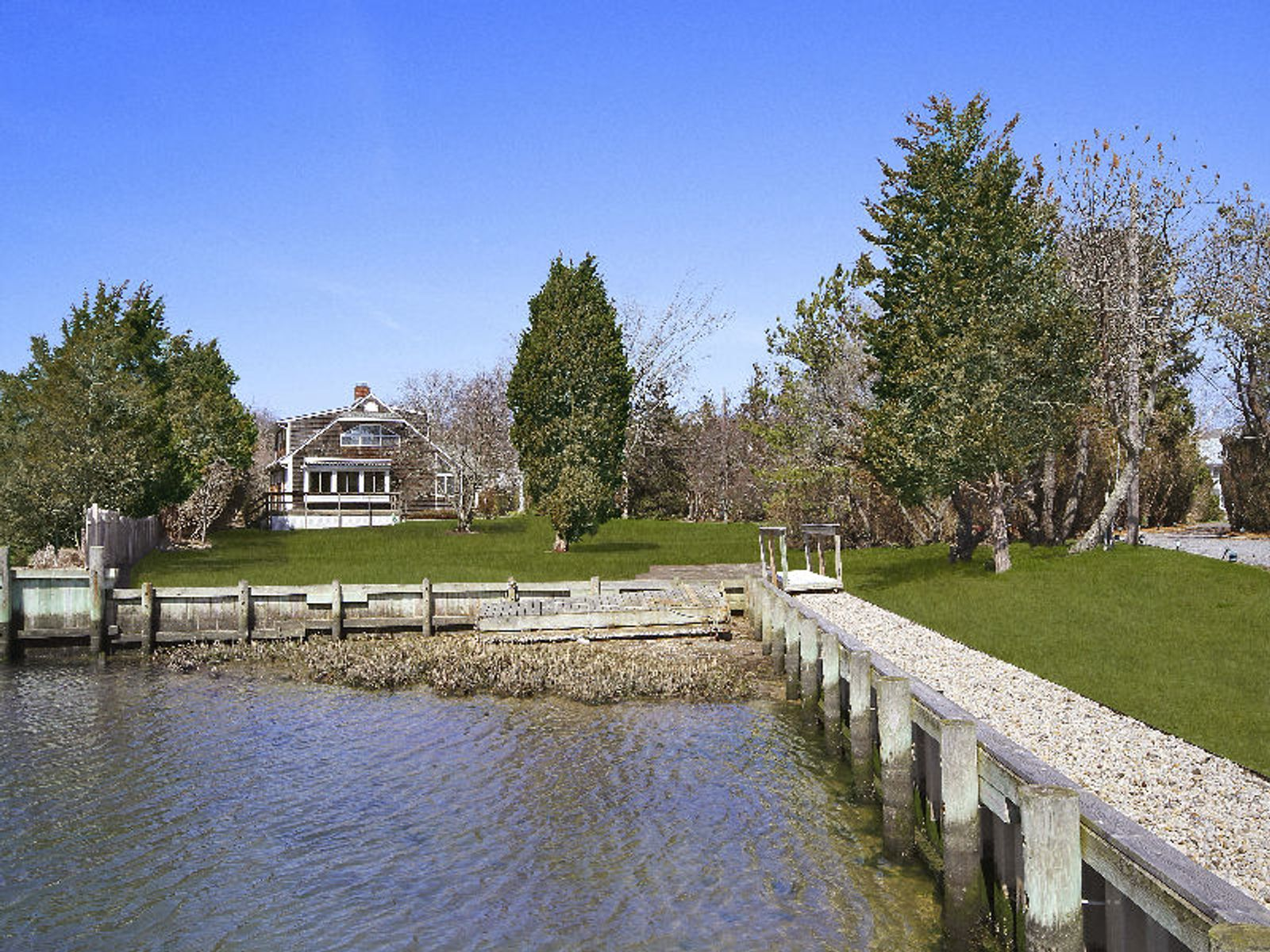 Waterfront With Dock, Southampton NY Single Family Home - Hamptons Real Estate