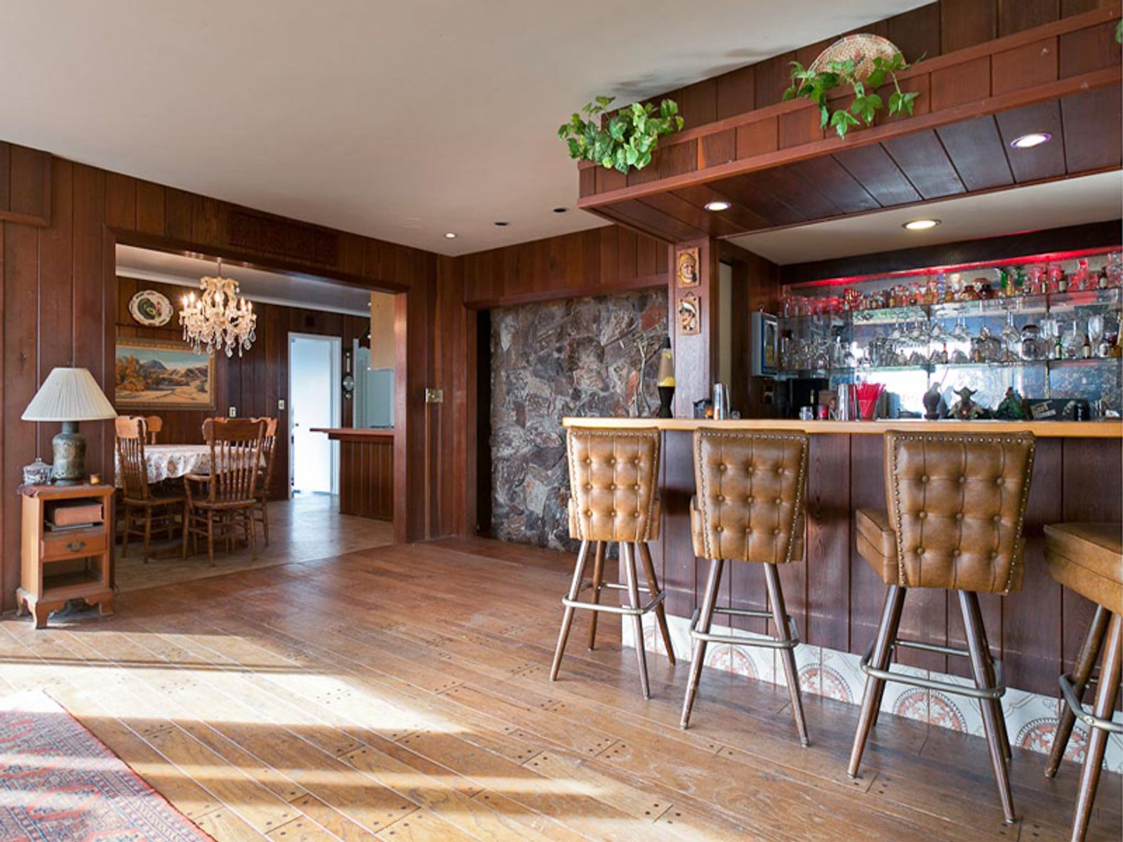 Bar with View to Dining Room