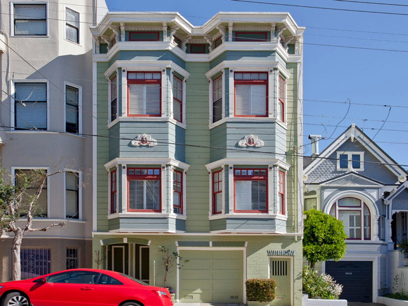 2046 Baker Charming Garden Home, San Francisco CA Condominium - San Francisco Real Estate