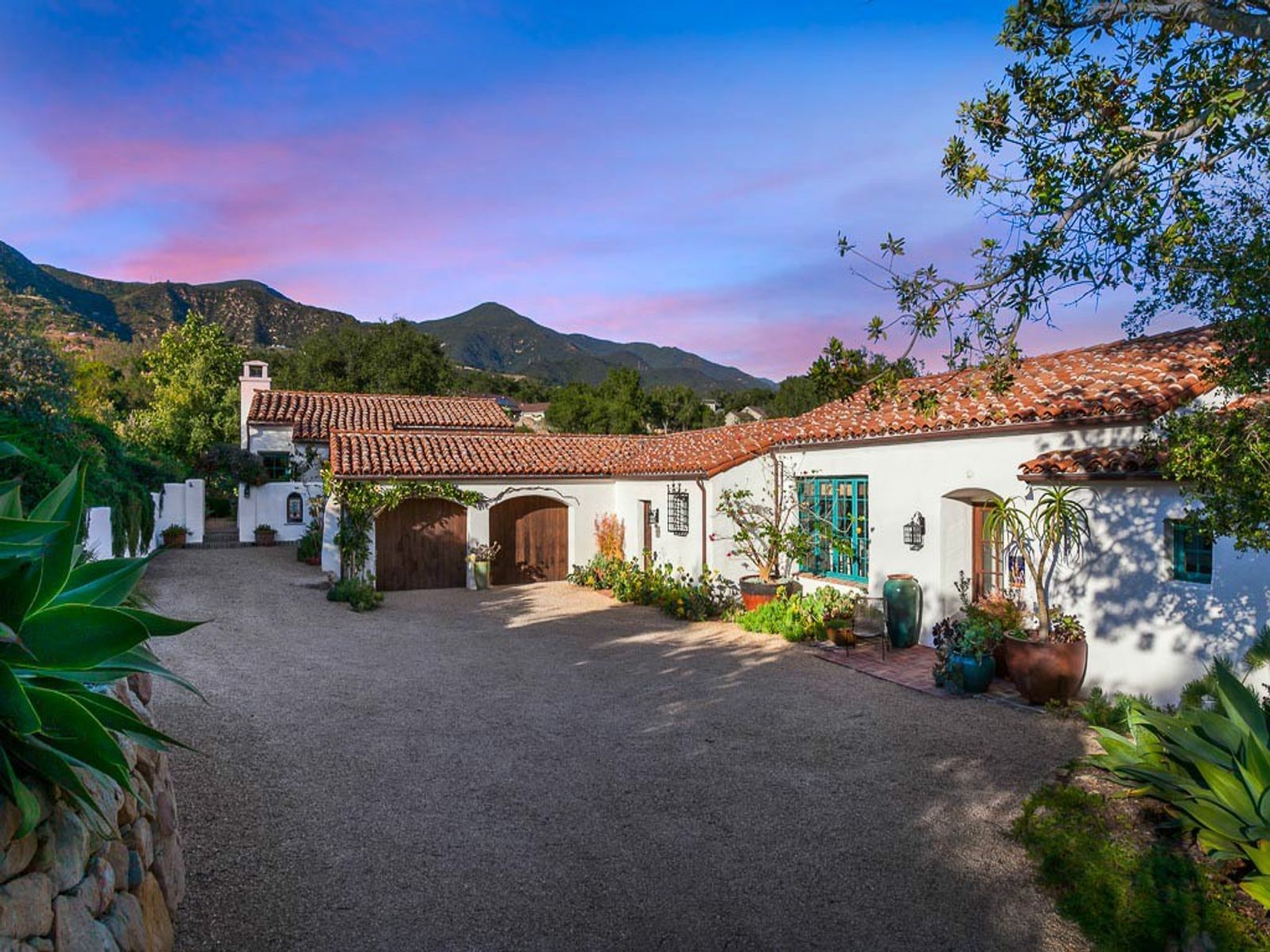George Washington Smith Inspired Spanish, Montecito CA Single Family Home - Santa Barbara Real Estate