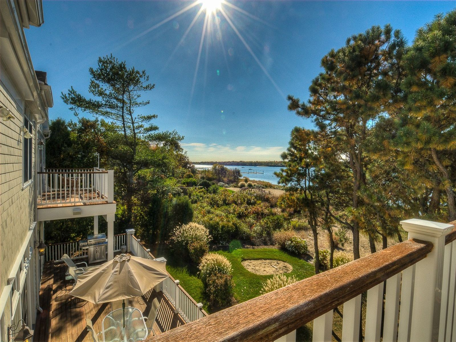 Waterfront Home with Private Beach, Falmouth MA Single Family Home - Cape Cod Real Estate