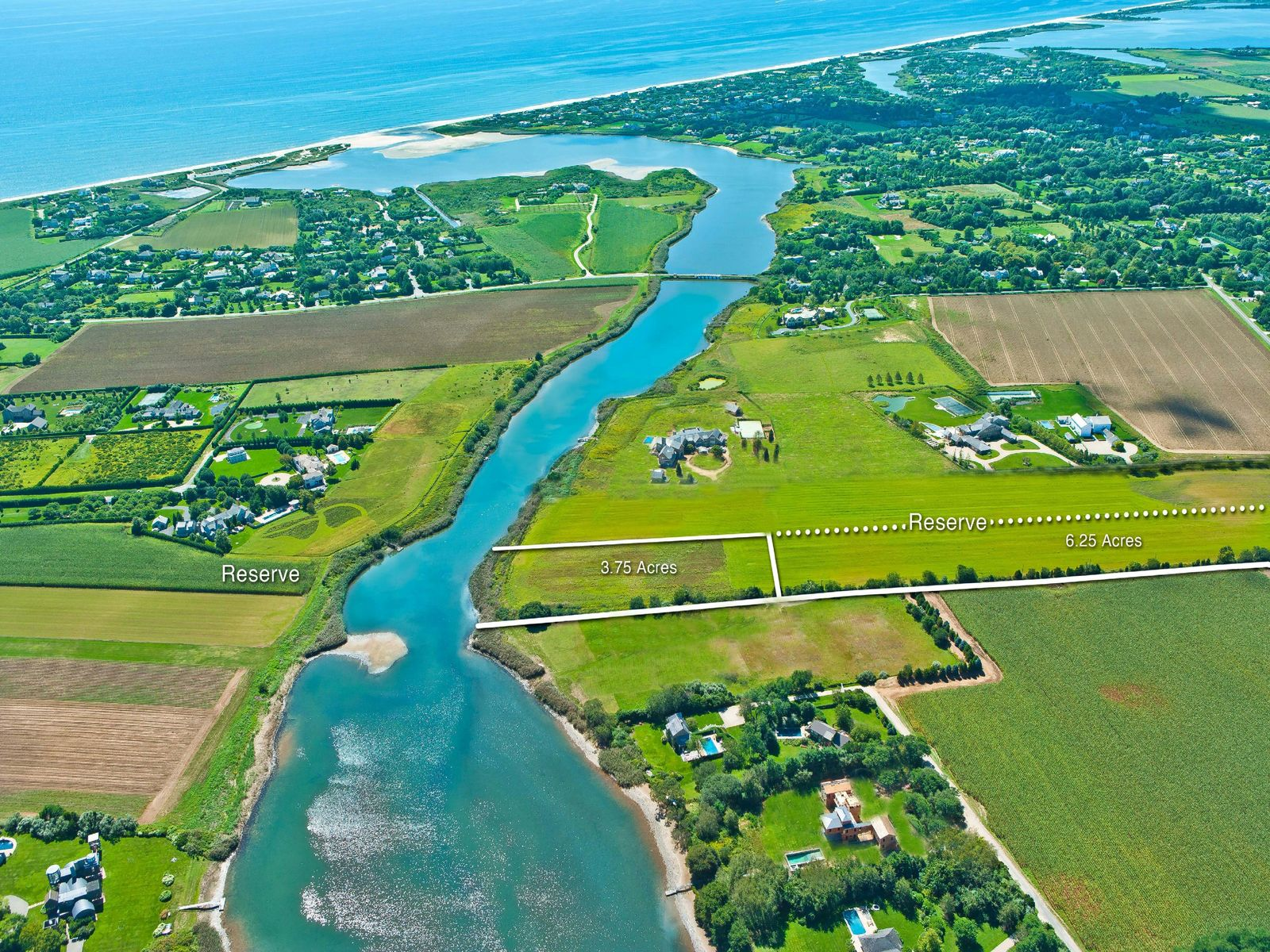 10+ Acres Sagg Pond Waterfront, Bridgehampton NY Acreage / Lots - Hamptons Real Estate