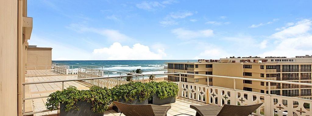 Panoramic Ocean And Palm Beach Views